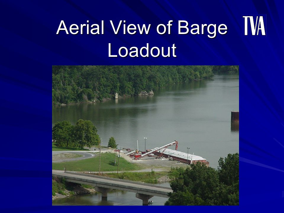 Aerial View of Barge Loadout