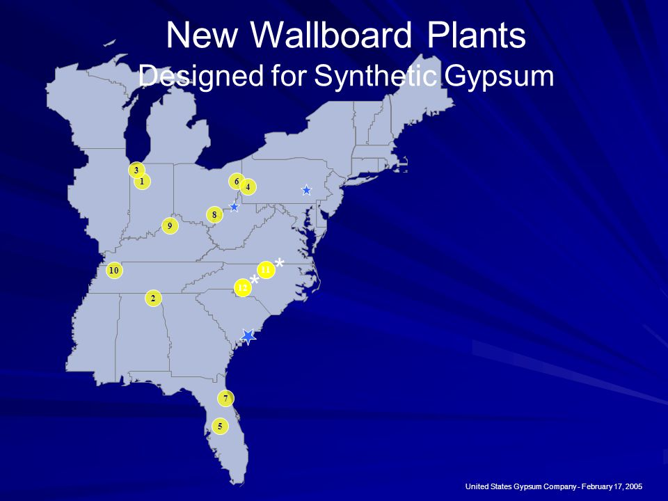 New Wallboard Plants Designed for Synthetic Gypsum