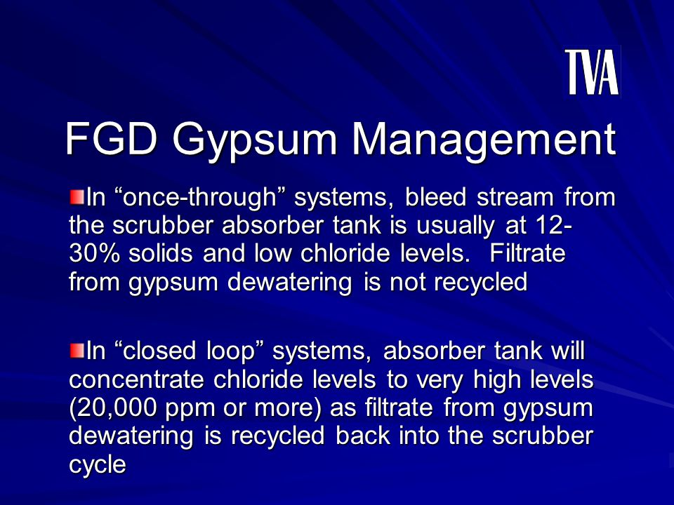 FGD Gypsum Management