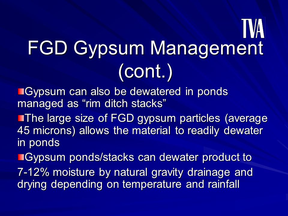 FGD Gypsum Management (cont.)