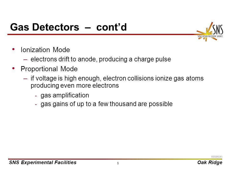 Gas Detectors – cont'd Ionization Mode Proportional Mode