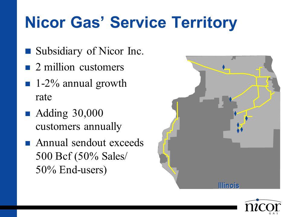 Nicor Gas' Service Territory