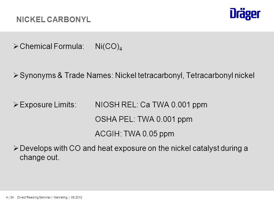 Chemical Formula: Ni(CO)4