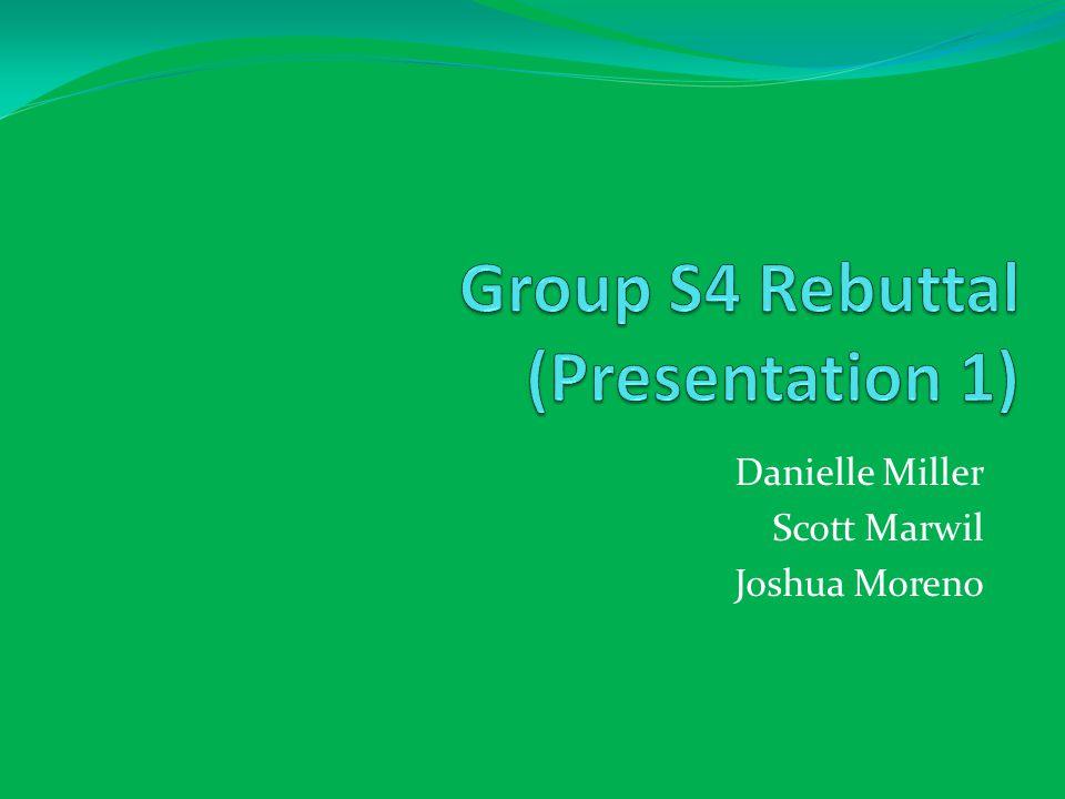 Group S4 Rebuttal (Presentation 1)