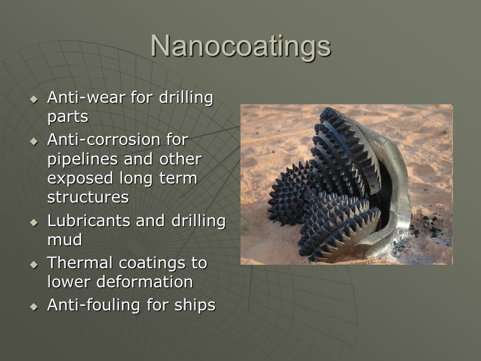 Nanocoatings Anti-wear for drilling parts