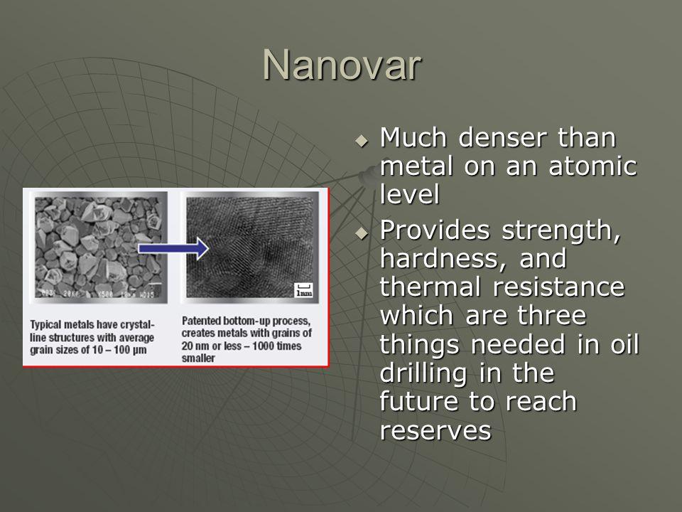Nanovar Much denser than metal on an atomic level