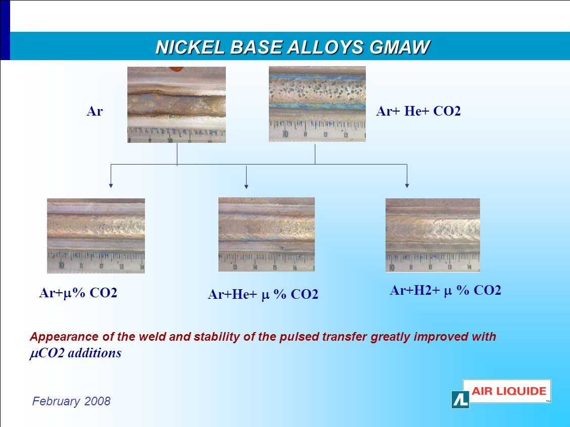 NICKEL BASE ALLOYS GMAW