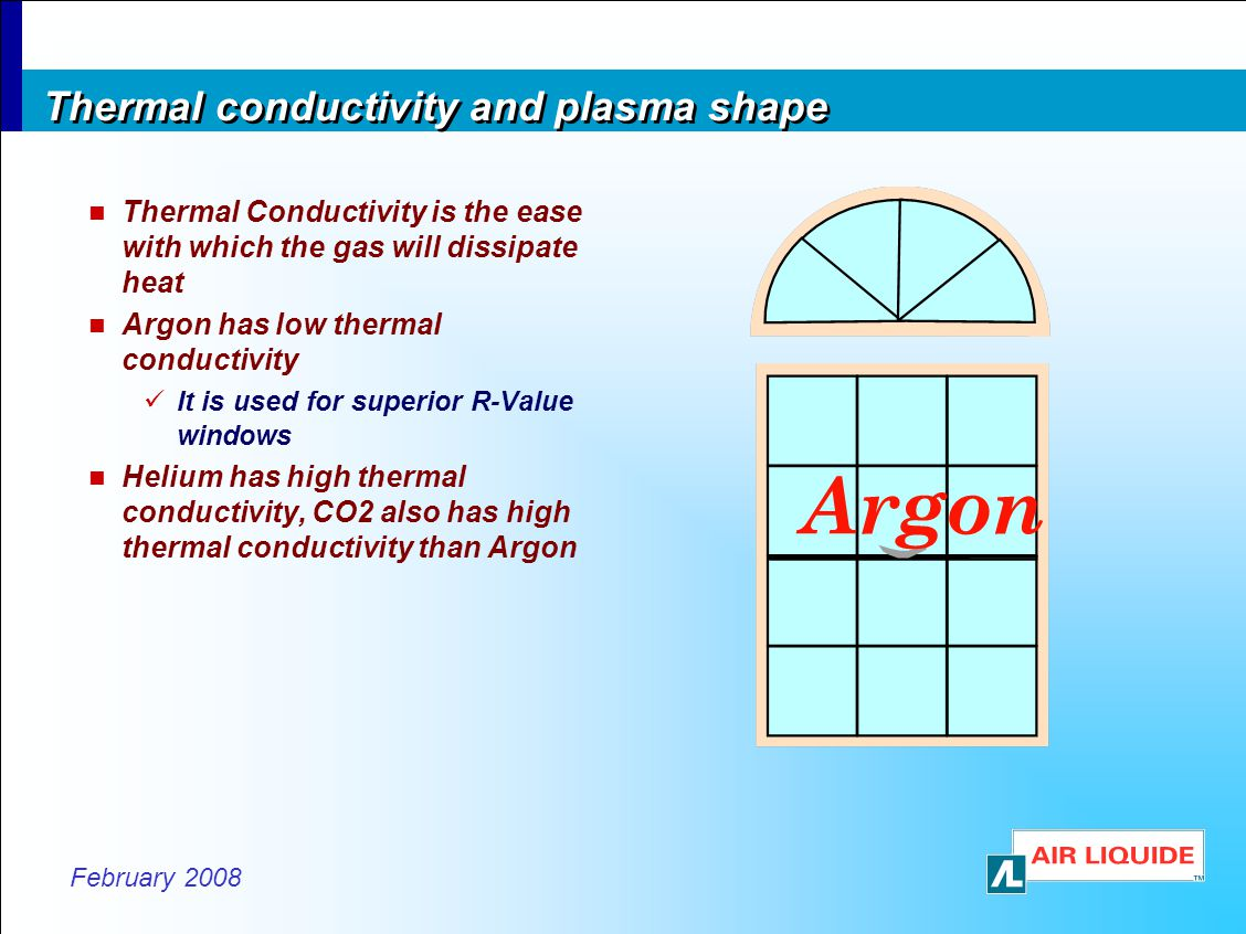 Thermal conductivity and plasma shape