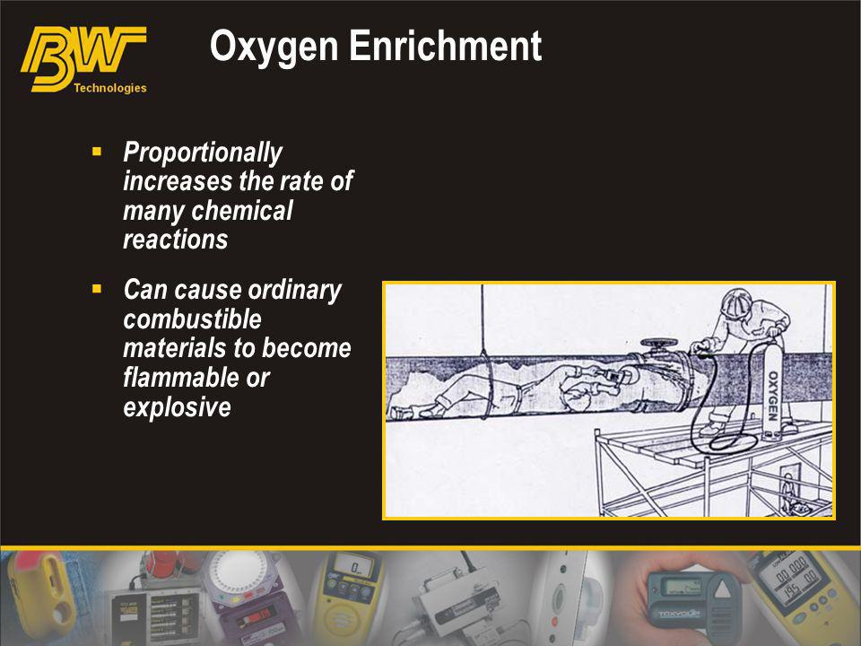Oxygen Enrichment Proportionally increases the rate of many chemical reactions.