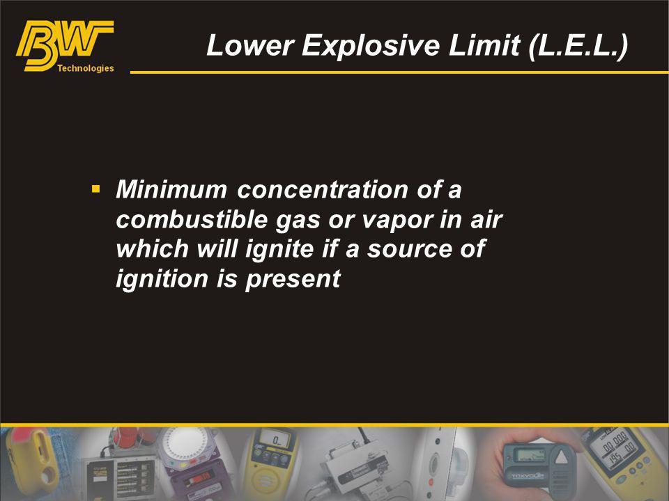 Lower Explosive Limit (L.E.L.)
