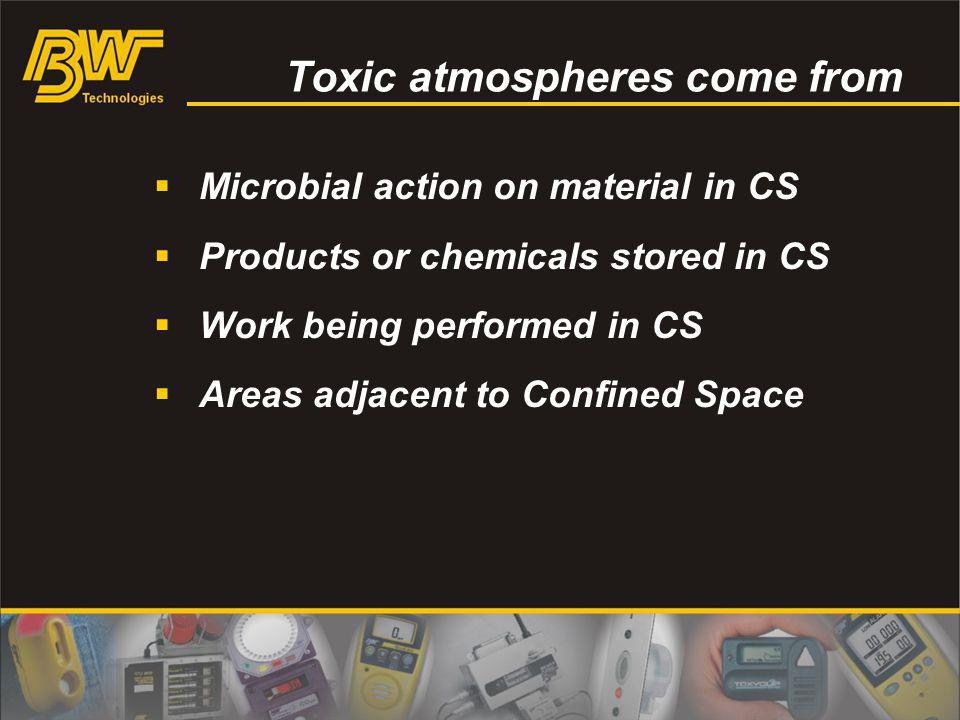 Toxic atmospheres come from