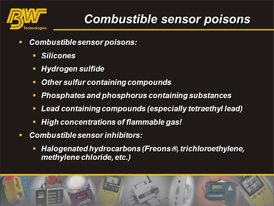 Combustible sensor poisons