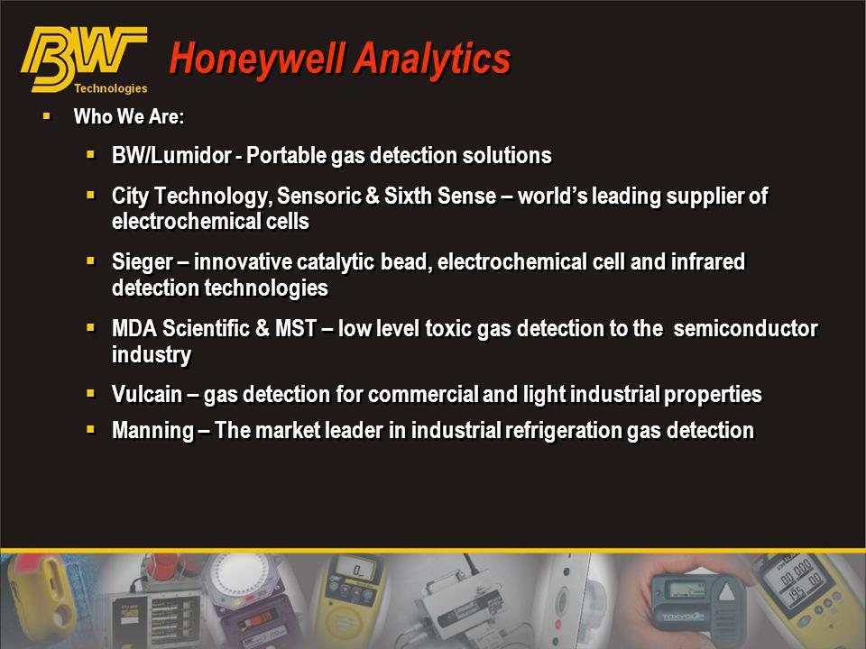 Honeywell Analytics BW/Lumidor - Portable gas detection solutions