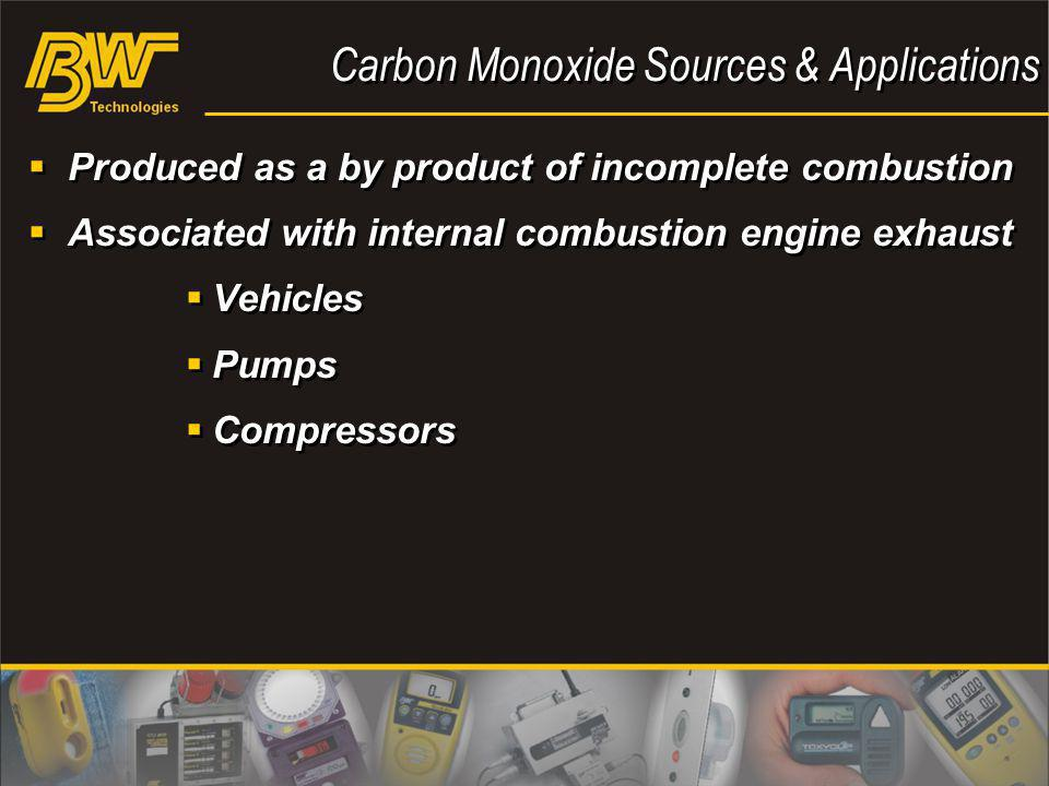 Carbon Monoxide Sources & Applications