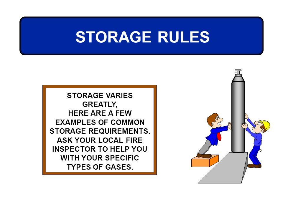 STORAGE VARIES GREATLY,