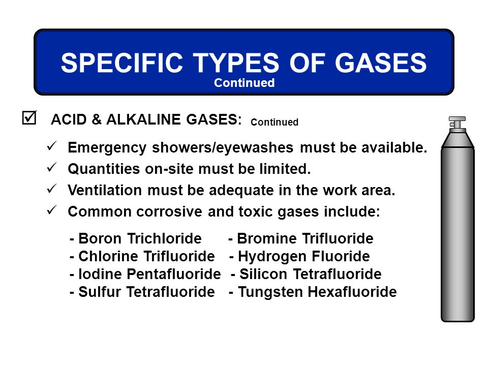 SPECIFIC TYPES OF GASES