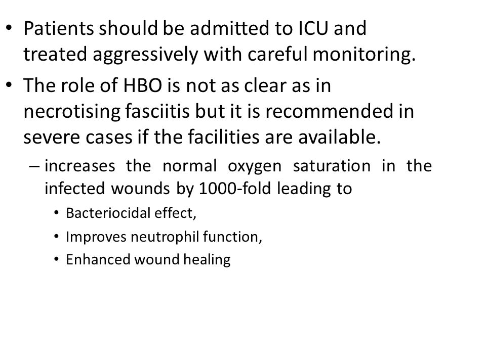 Patients should be admitted to ICU and treated aggressively with careful monitoring.