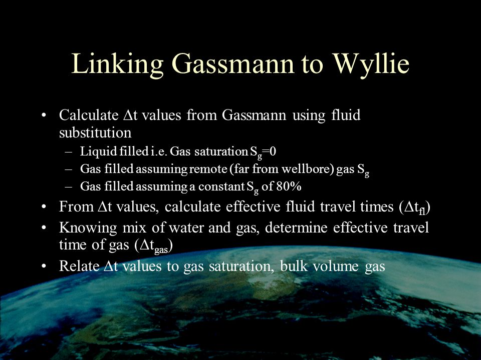 Linking Gassmann to Wyllie
