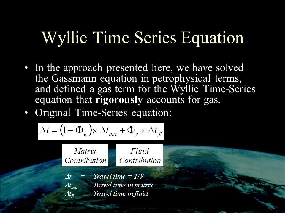 Wyllie Time Series Equation