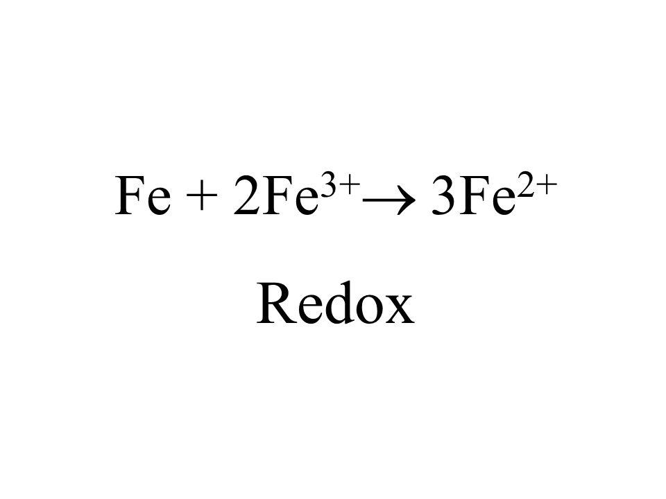 Fe + 2Fe3+ 3Fe2+ Redox