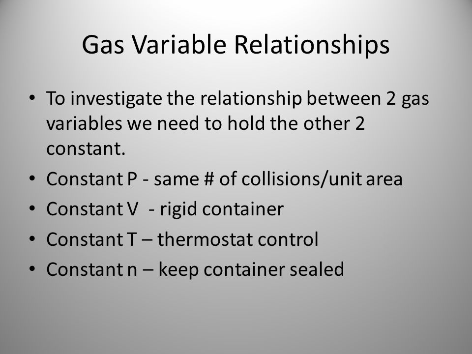 Gas Variable Relationships