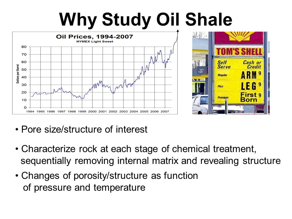 Why Study Oil Shale Pore size/structure of interest