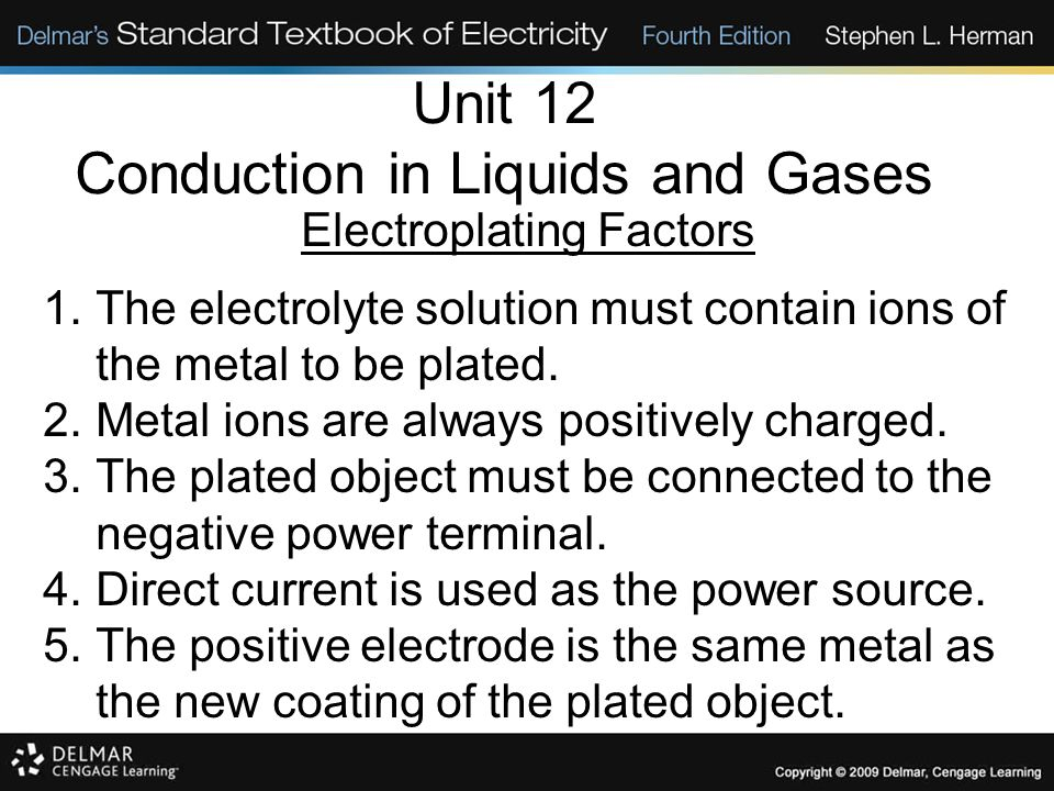 Unit 12 Conduction in Liquids and Gases