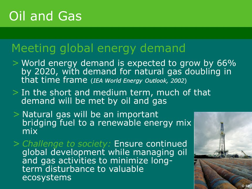 Oil and Gas Meeting global energy demand