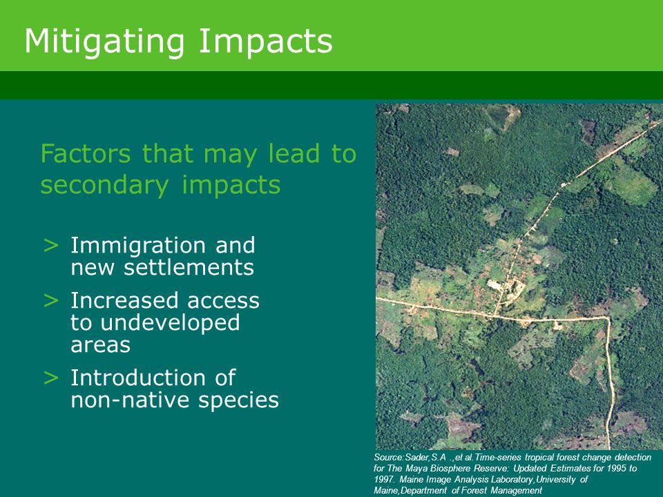 Mitigating Impacts Factors that may lead to secondary impacts