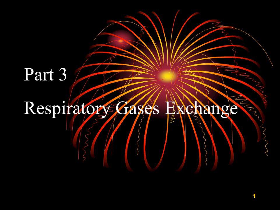Part 3 Respiratory Gases Exchange