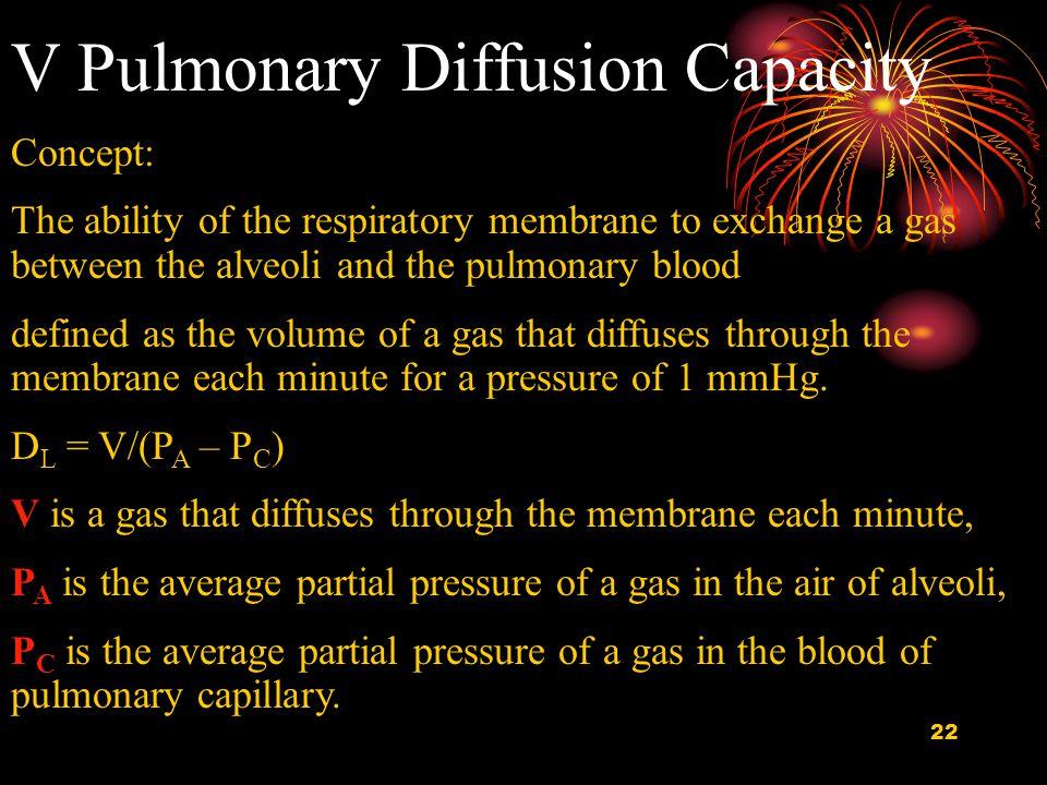 V Pulmonary Diffusion Capacity