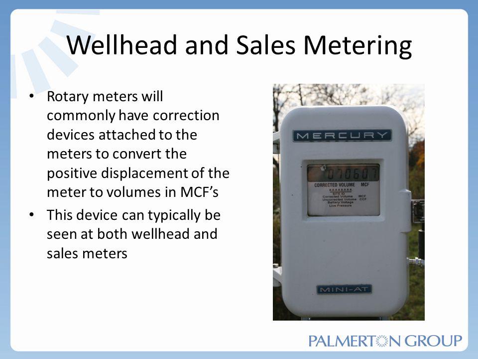 Wellhead and Sales Metering
