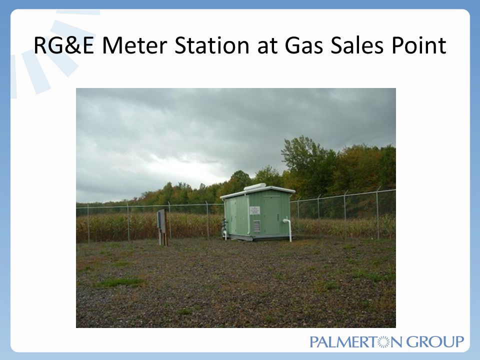 RG&E Meter Station at Gas Sales Point