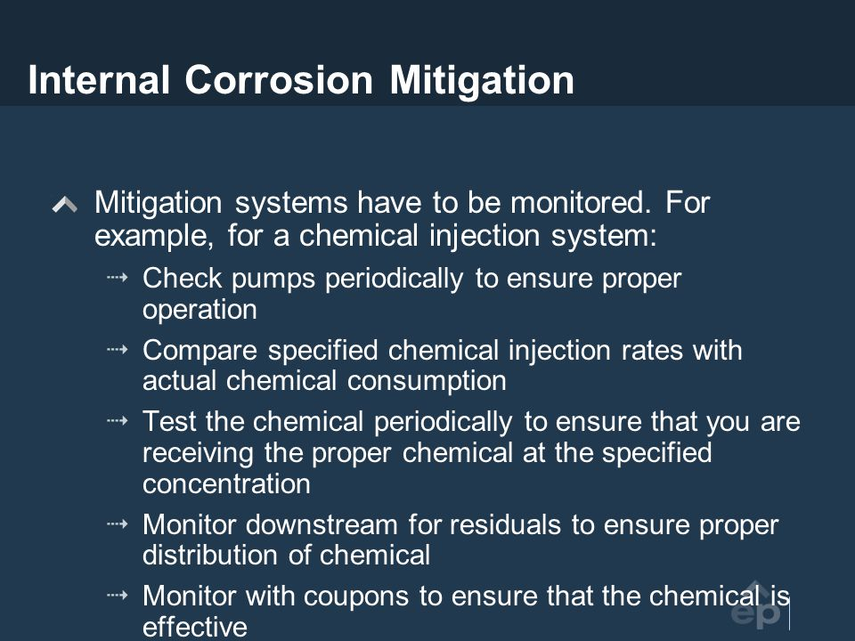 Internal Corrosion Mitigation
