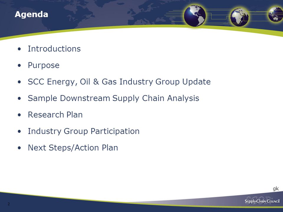 SCC Energy, Oil & Gas Industry Group Update