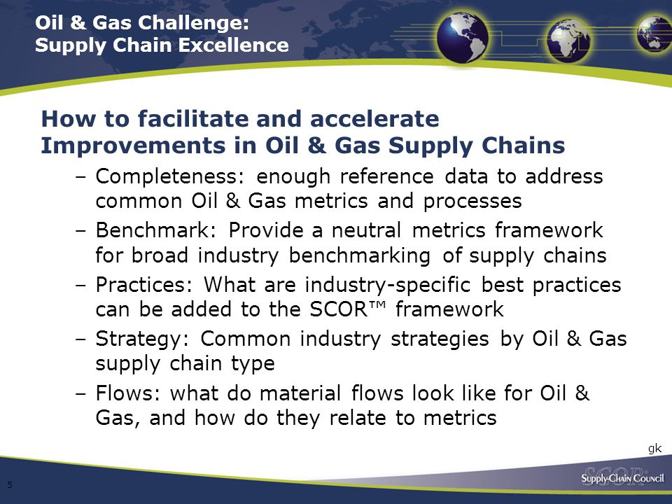 Oil & Gas Challenge: Supply Chain Excellence