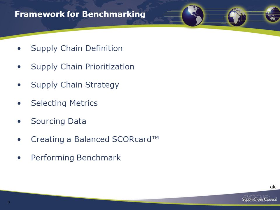 Framework for Benchmarking