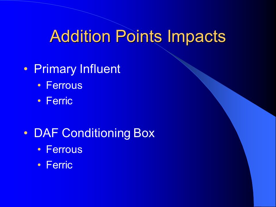 Addition Points Impacts