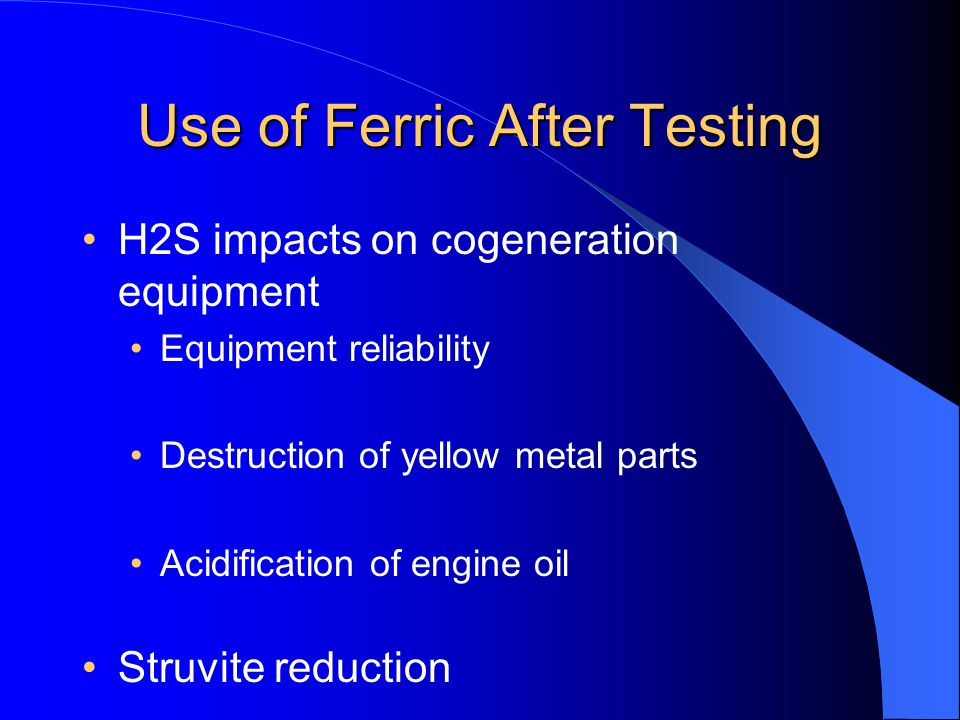 Use of Ferric After Testing