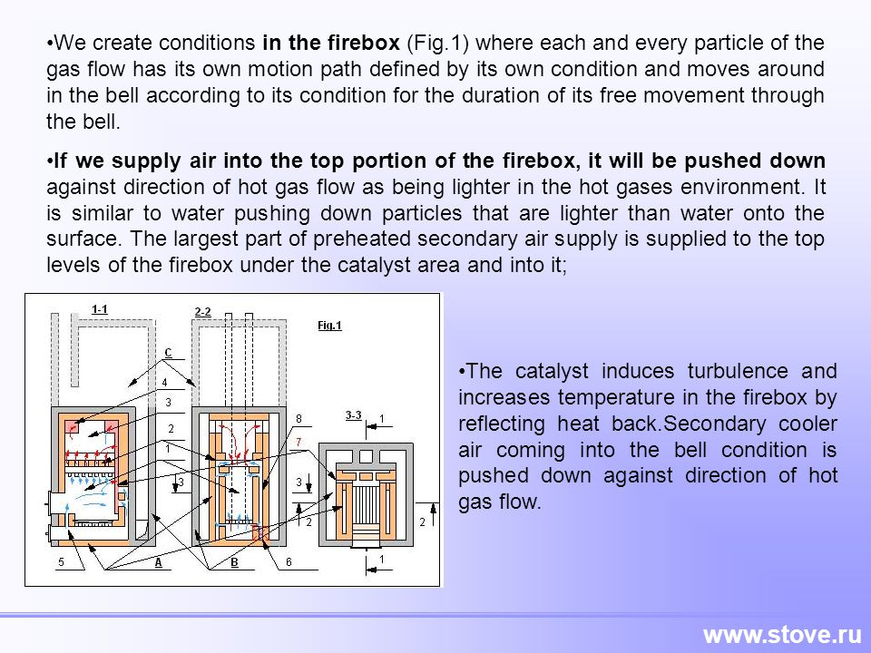 We create conditions in the firebox (Fig