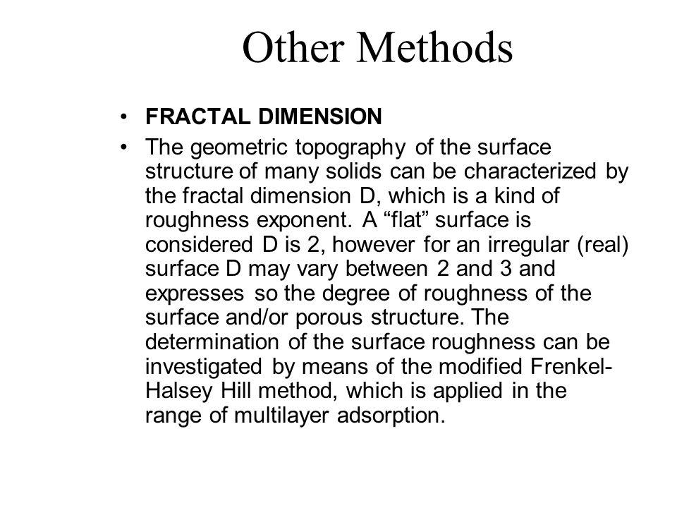 Other Methods FRACTAL DIMENSION