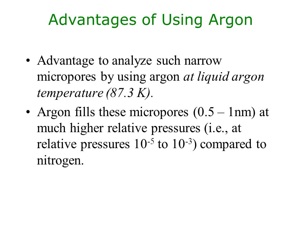 Advantages of Using Argon