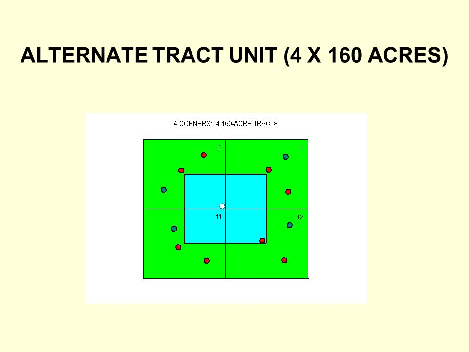 ALTERNATE TRACT UNIT (4 X 160 ACRES)