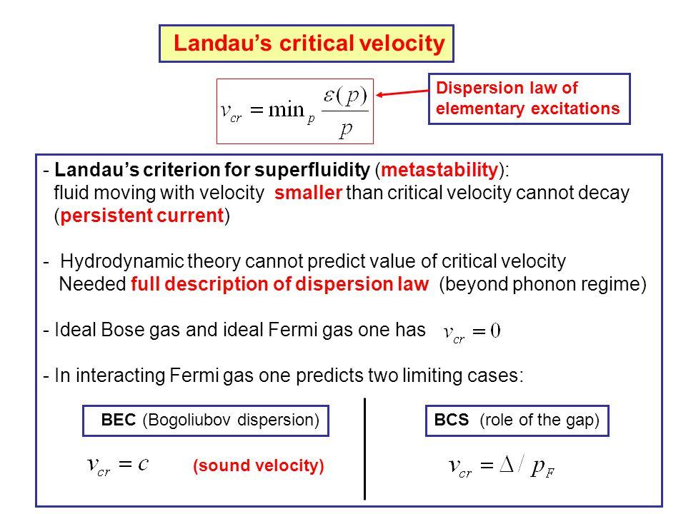 Landau's critical velocity
