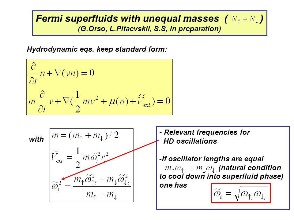 Fermi superfluids with unequal masses ( )