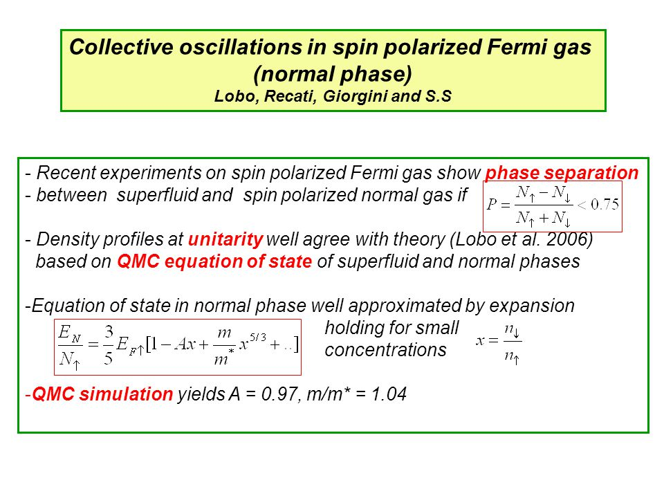 Collective oscillations in spin polarized Fermi gas (normal phase)