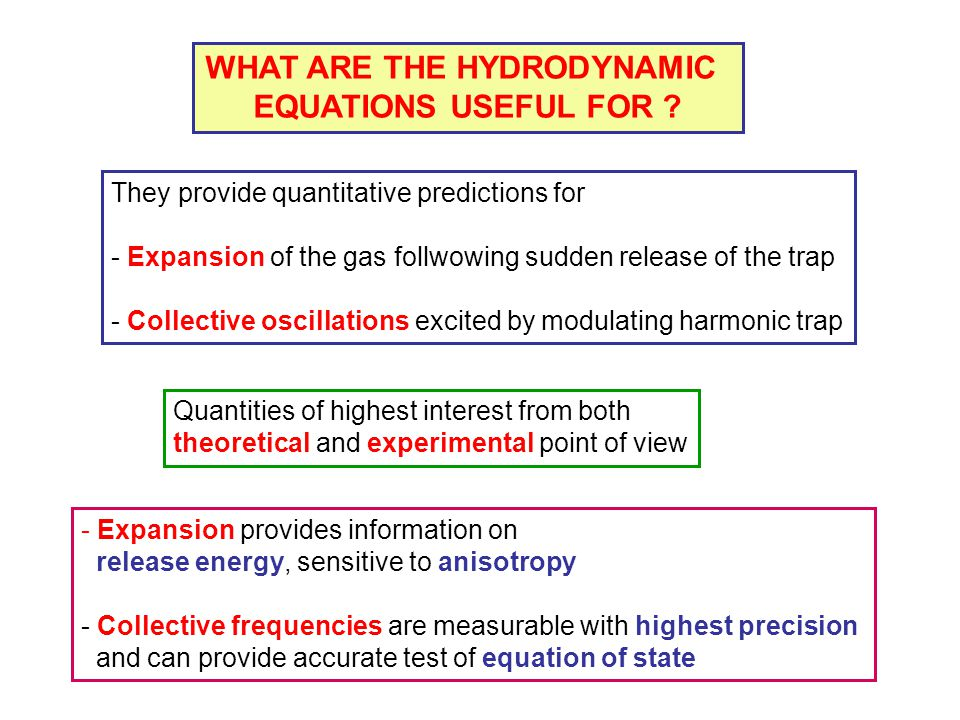 WHAT ARE THE HYDRODYNAMIC