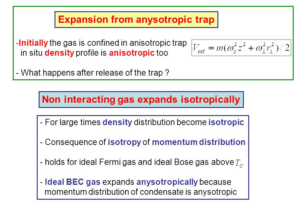 Expansion from anysotropic trap