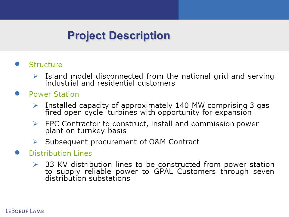 Project Description Structure