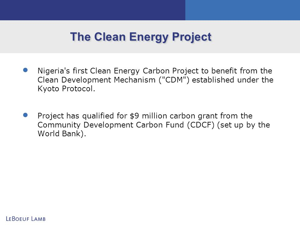 The Clean Energy Project